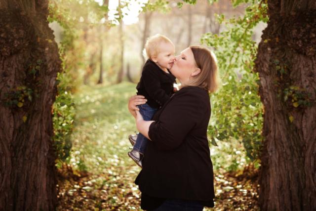 Mutter mit Kleinkind Fotoshooting Bad Hersfeld